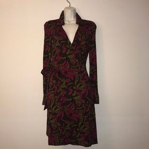 Iconic DvF floral wrap dress